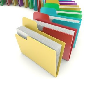 A Group Of File Folders