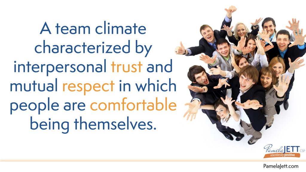 A Team Climate Is Characterized By Interpersonal Trust And Mutual Respect