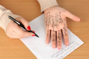 Arithmetic Written On A Persons Hand