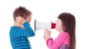 Children Argue With A Bullhorn