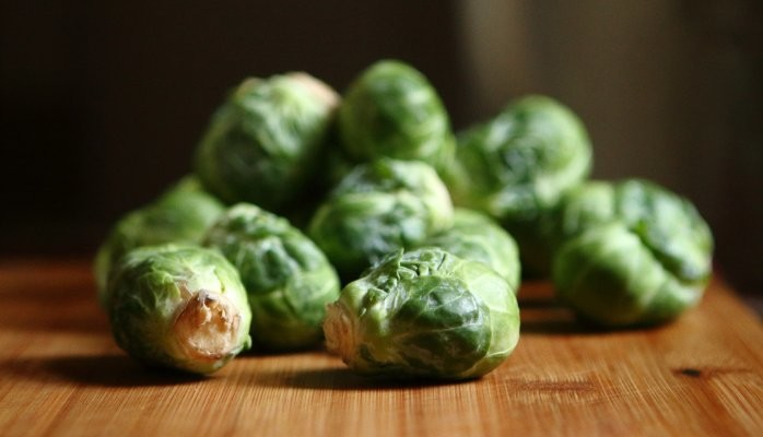 Close View Of Brussel Sprouts
