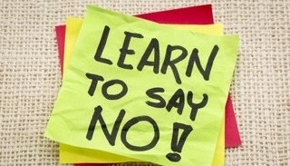 Note Says Learn To Say No