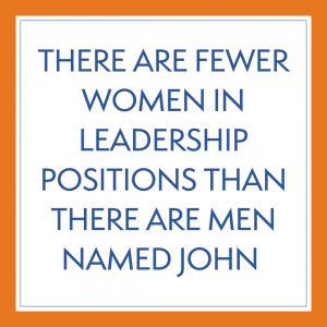 There Are Fewer Women In Leadership Positions Than There Are Men Named John
