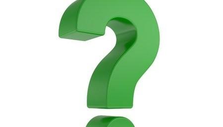 Three Dimensional Green Question Mark