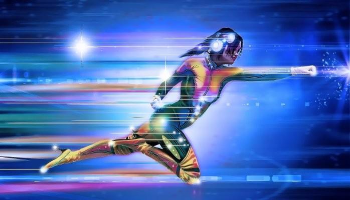 Very Fast Superhero Woman